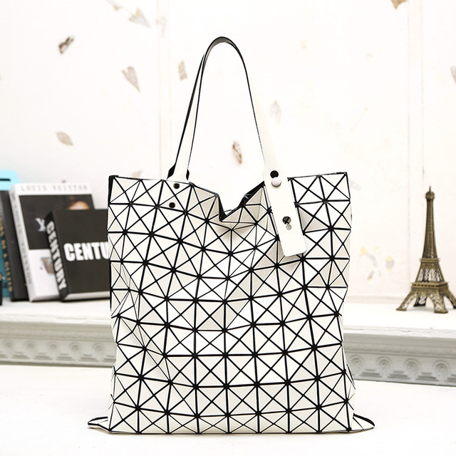 Bao bao issey miyake for ISSEY MIYAKE bag geometry folding deformation of  the bag Large 10 10 shopping bag 1e6f802c9232d