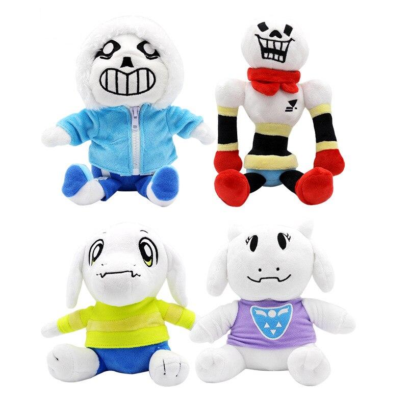 1 pièces 20-30cm Undertale jouets en peluche Undertale Sans Papyrus Asriel Toriel peluche jouets poupée pour enfants enfants cadeau de noël