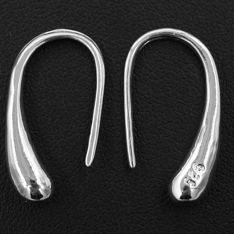 Fashion Silver Crystal hoop Earrings U Type Ear Buckle Earrings For Women Girl Party Wedding Jewerly brincos
