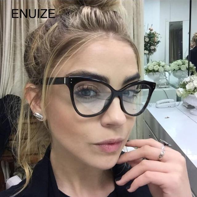 a2a491b4ef2ea Retro Mulheres Olho de Gato Óculos De Armação Marca Designer Oversized  Quadros de Óculos Óculos de