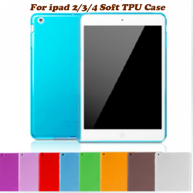 For ipad 4 ipad 3 Candy Matte Soft TPU Gel Transparent Back Cover for Apple New iPad 2 3 4 with Retina Tablet Protective Case