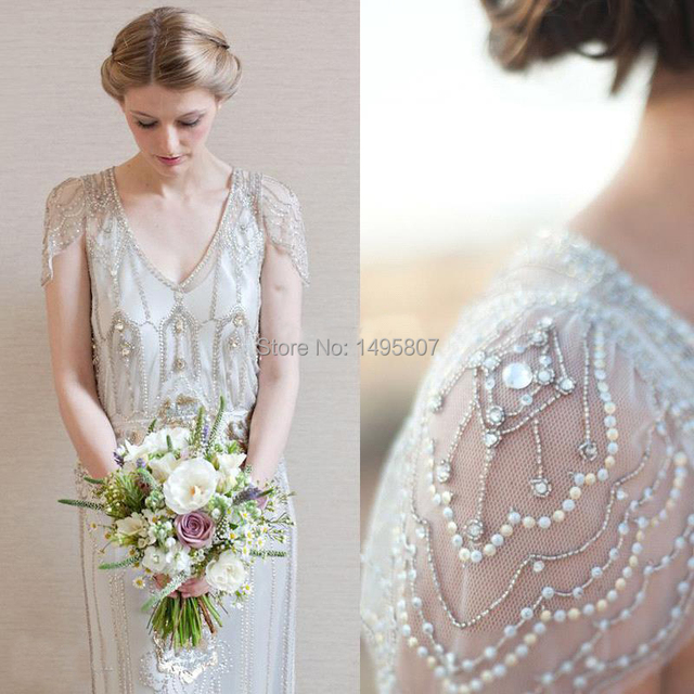2015 new arrival art deco wedding dresses sheath open back with 2015 new arrival art deco wedding dresses sheath open back with beaded art deco dress elegant junglespirit Choice Image