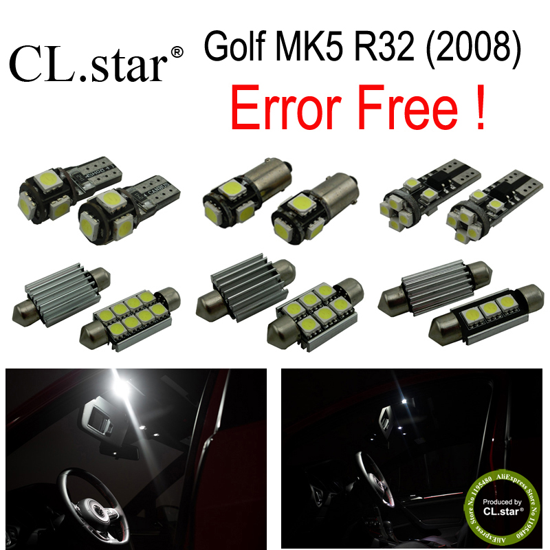 14pc X canbus error free for Volkswagen VW Golf MK5 R32 LED lamp Interior font b