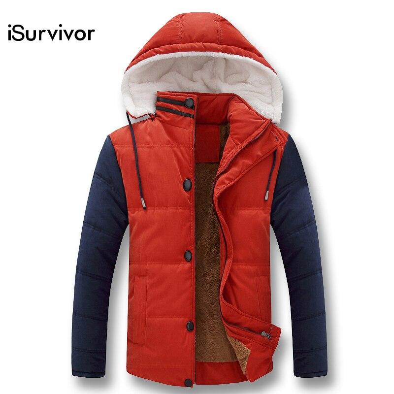 ФОТО Winter Men Downs Jackets Hooded Collar Hot Sale Men's Winter Jackets Warm Outwears Plus Size Fashion Down & Parkas Men