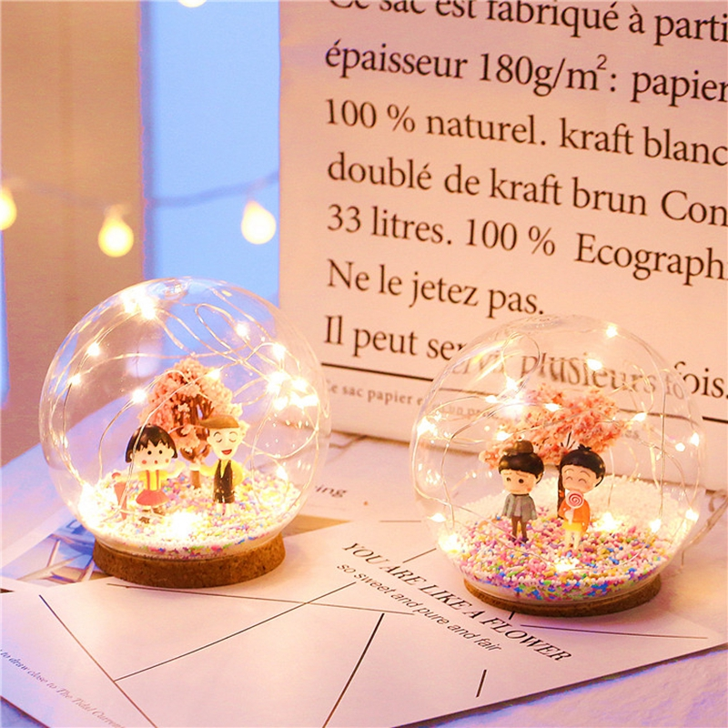 Creative LED Crystal Ball Design Table Lamp Room Decor Bedside Night Light For Girls Baby New Year Christmas Birthday Gift (6)