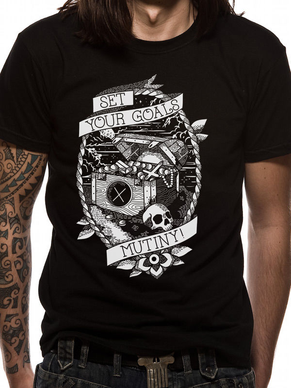 Quality Shirts New Style Your Goals Mens T-Shirt Top Licensed Merchandise Mutiny XXL 100% Cotton Top Tees