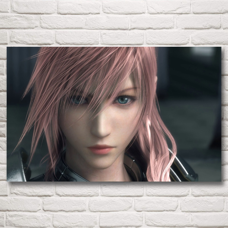FOOCAME Final Fantasy Claire Farron Video Games Art Silk Poster Prints Home Decor Painting 12x19 15x24 19x30 22x35 Inches