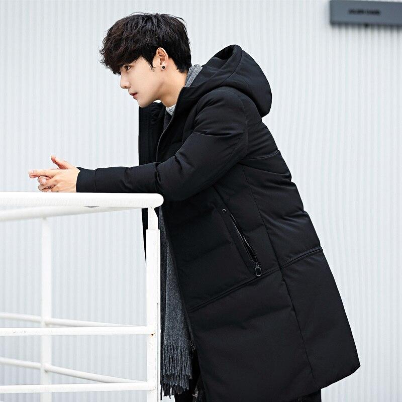 8511678d8 Chaqueta plumas hombre talla grande Abrigo con capucha de algodón para  hombre abrigo de invierno largo casual chaqueta de hombre delgada en Parkas  de La ...