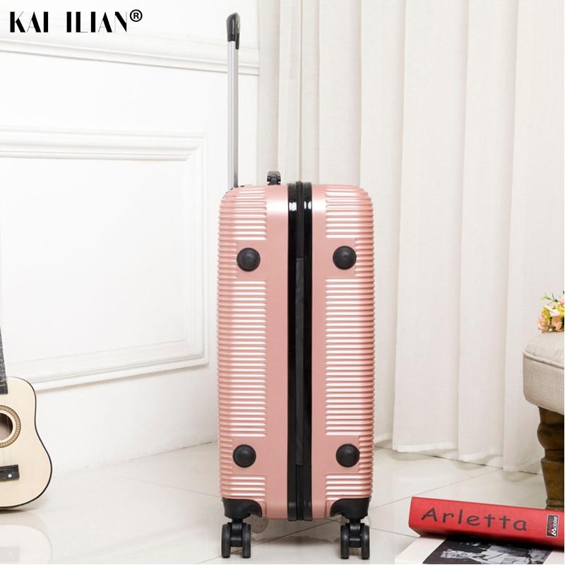 HOT 20/24/28 pouces roulement bagages Sipnner roues ABS + PC femmes valise de voyage hommes mode cabine bagage à main trolley boîte - 5