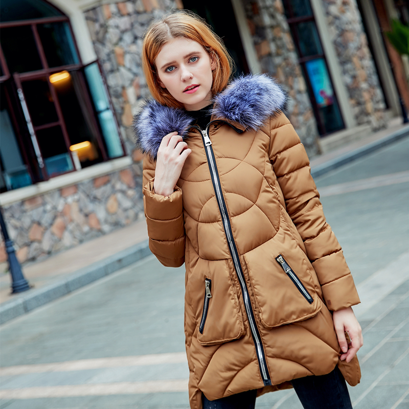 2017 New Fashion Long Winter Autumn Fall Jacket Women Slim Female Coat Thicken Parka Cotton Clothes Clothing Hooded Student 2016 new fashion autumn winter women basic jacket coat female slim hooded brand cotton coats