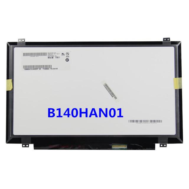 Nueva pantalla original 14 pulgadas portátil B140HAN01 B140HAN01.1 B140HAN01.2 B140HAN01.3 LCD 1920*1080