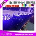 4 шт./лот 18*18 Вт dmx led par wash zoom indoor 6in1 rgbwa uv 18x18 Вт led par can