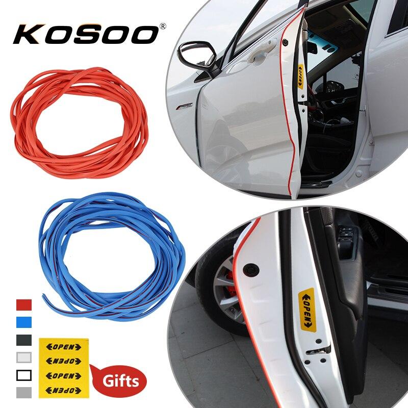 KOSOO Auto Tür Rand Scratch Crash Streifen Schutz Aufkleber Decals Für Toyota Avensis Corolla Auris IQ RAV4 Camry k2 Auto styling