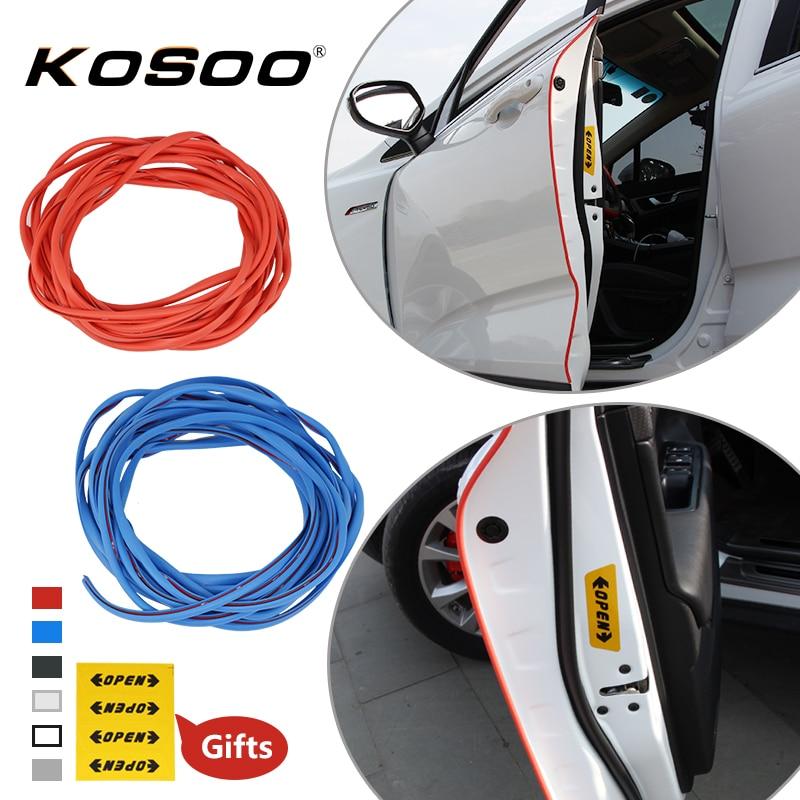 KOSOO Car borde de la puerta Scratch Crash Strip protección etiqueta para Toyota Avensis Corolla Auris IQ RAV4 Camry k2 Auto estilo