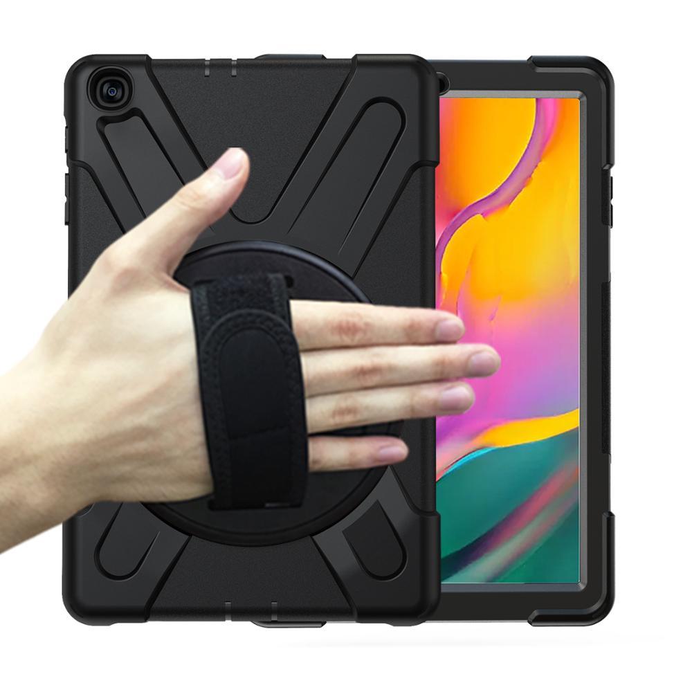 Para Galaxy Tab 10.1 2019 Caso, à prova de choque de Alto Impacto Resistente Heavy Duty Armadura Capa para Samsung Galaxy Tab 10.1 T510 T515