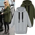 High quality New Winter Autumn Loose Hooded Jacket Plus Size Thick Velvet Long sleeve Sweatshirt Korean Style Hoodies