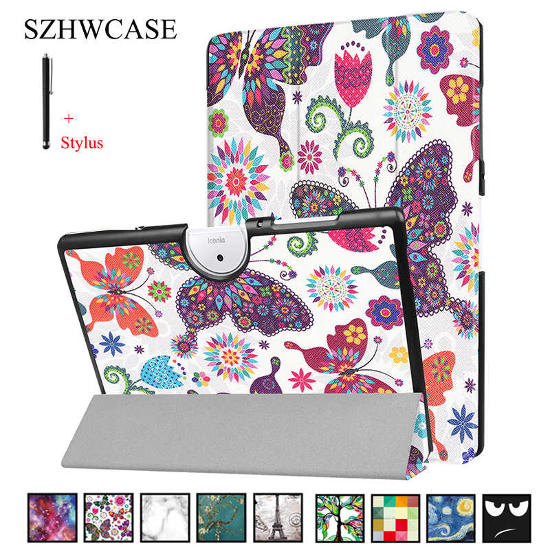 For ACER Iconia One 10(B3-A40) Case Cover For Acer B3-A40 10 inch Tablet Capa Fundas For ACER B3-A40 Flip Leather Shell+Pen