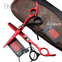 6.0 'Japan Professional Hairdressing Scissors Hair Cutting Thinning Scissors Set Barber Shears Tijeras Pelo High Quality Salon