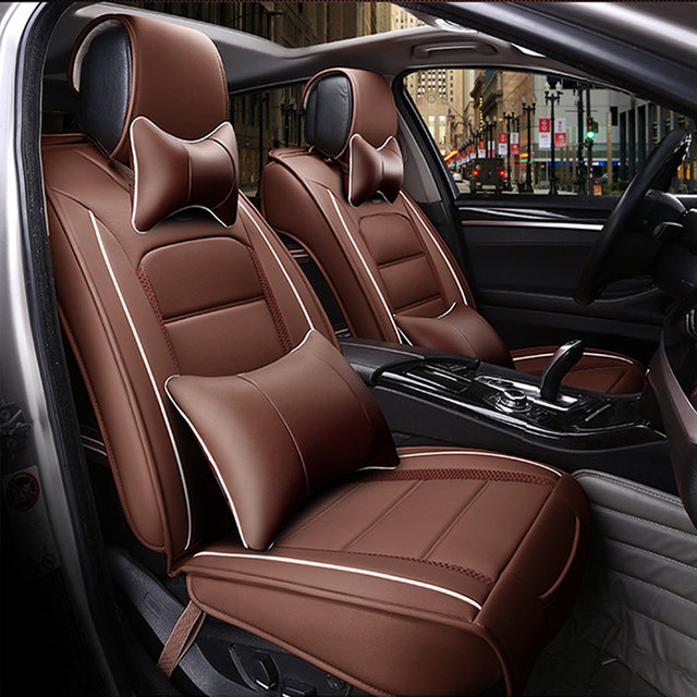 Front Rear Luxury Special Leather Car Seat Cover For Volkswagen Vw Passat Polo Golf Tiguan Jetta Touareg Styling