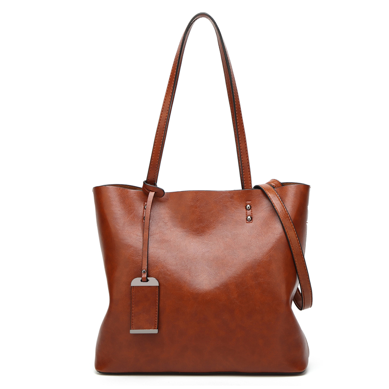 Best Special Offer New Bucket Quality Leather Women Handbags 2017 Brand Tote Bag Simple Top Handle Famous Designer Totes Black In Shoulder Bags From Luggage