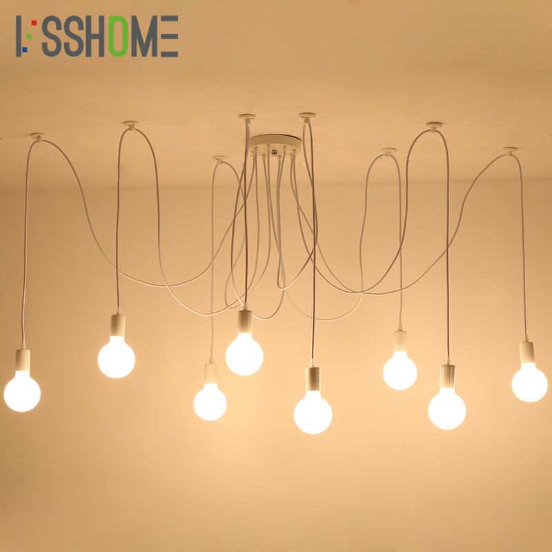 [VSSHOME] Living Room Vintage Pendant Lights Industrial Retro Lighting Dining Room Pendant Lamp Decoration AC90-260V E27 Holder [ygfeel] pendant lights modern bedroom pendant lamp dining room living room decoration lighting hotel room light e27 ac90 260v