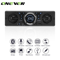 Onever 1 Din Bluetooth Car Radio Player Stereo Audio MP3 Player Hands free FM Modulator Built in 2 Speakers Supports USB SD AUX