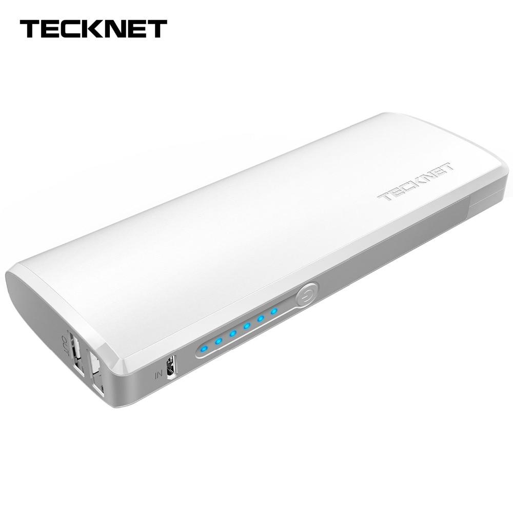 imágenes para Banco de la Energía 13000 mAh TeckNet Dual 2 Puertos USB Cargador de Baterías Externas Portátil con Tecnología Inteligente de Carga Del Teléfono Móvil