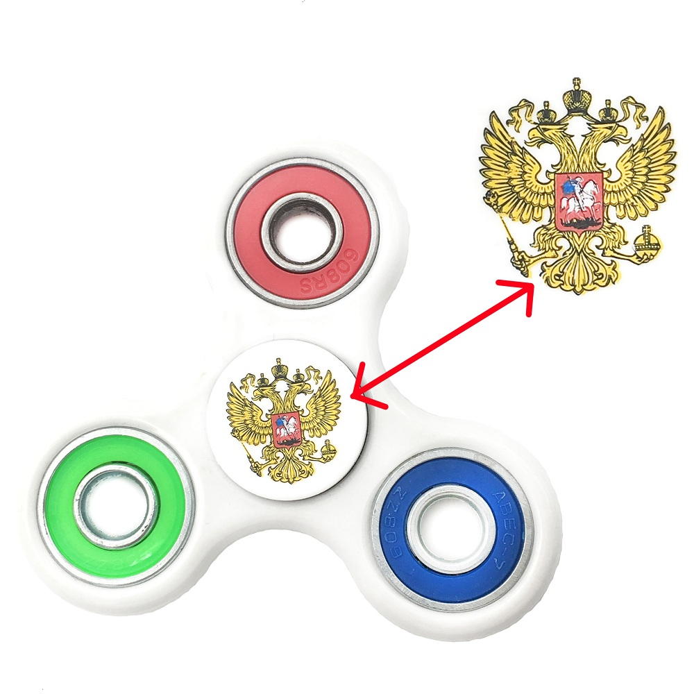 Russian Flag Of Fidget Spinner Plastic EDC Anti Stress Spiner Toys Hand Spinner For Autism And Antistress , Spiner Luminous