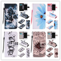 For iPhone 5/5s/6/6s/6 6s 7/7 plus Luxury Death skull pattern PU Leather Stand Wallet Flip Cover case with Card Slots
