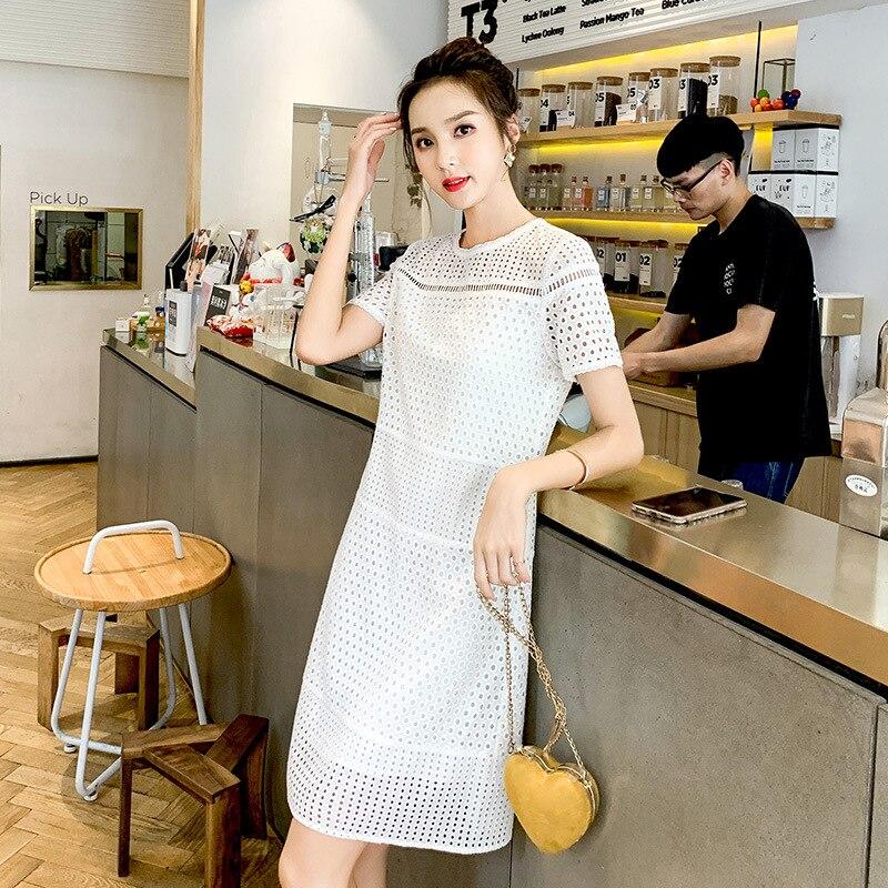 Top qualité Printemps 2019 Longue Plissée robe D'été décontracté Femmes Taille Haute Elascity sur la promotion