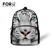 Cool School Kids Backpacks Cute Animal Owl Print Backpack for Girls Small Boys Tiger Head Leopard Kindergarten Book Bags Mochila