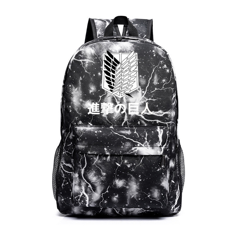 Anime Attack On Titan Cartoon Backpack Male/female Sac A Dos Canvas Shoulder Bags Pack School Bag For Teenagers Travel Bags