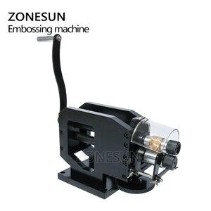 Image 4 - Zonesun 가죽 스탬핑 기계 콜드 프레스 기계 엠보싱 반복 패턴 가죽 벨트 기타 스트랩 로고 embosser