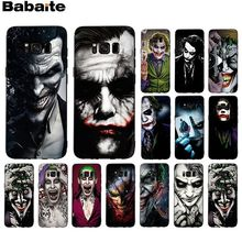 Babaite Бэтмен Темный рыцарь Джокер карта смарт-чехол черный мягкий чехол для телефона для samsung GALAXY s5 s7 edge s8 plus s9 plus s6