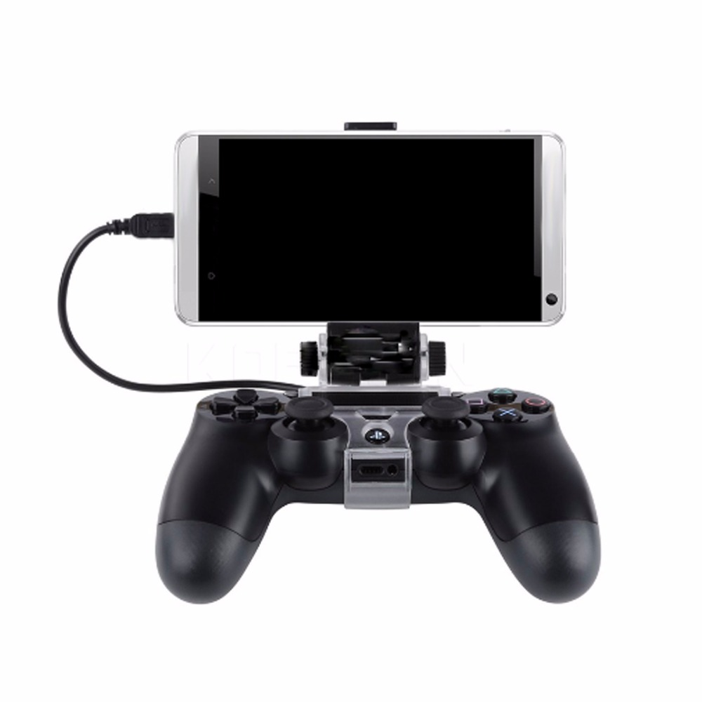 Hot Game Controller Holder Phone Clamp Smart Clip Bracket With OTG Cable For Bluetooth Wireless PS4 DualShock 4 Controller