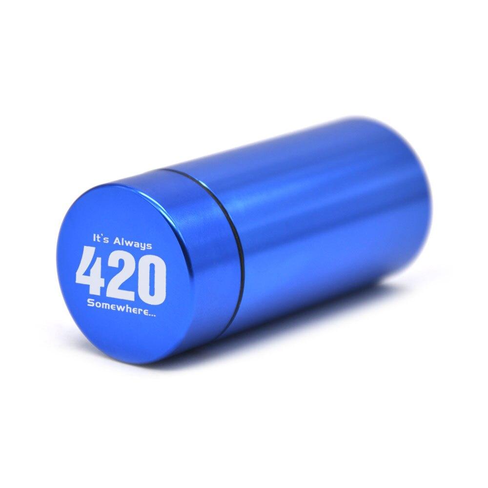 HORNET Airtight Smell Proof Aluminum Stash Jar Tobacco Box Metal Herb Storage Container Pill Box