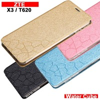 ZTE Blade T620 Case Cover Leather Luxury Water Cube Pu Flip Case For ZTE T620 Blade