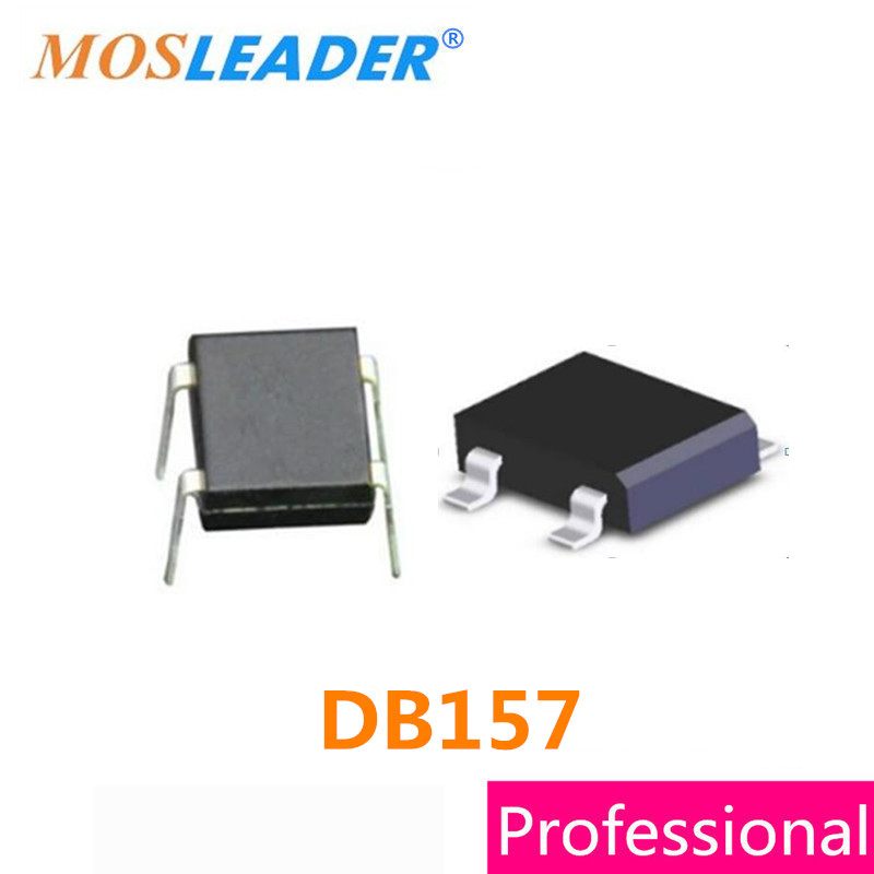 Mosleader DB157 SOP4 DIP4 500PCS DB157S 1KV 1000V 1.5A Bridge rectifier High quality db107 dip 4 1a 1000v