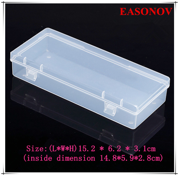 EASONOV 15.2 * 6.2 * 3.1cm PP Rectangular Plastic Box Toolbox  5pcs  lot