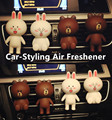 Car-Styling Car Air Freshener 100 Original Interior Decoration Solid Perfumes Air Condition Vent Clip Air Cleaner Line Cute Doll
