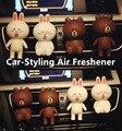 Carro-Styling Carro Decoração Interior Sólida Ambientador 100 Original Perfumes Ar Condicionado Ventilação Clipe Linha Bonito do Ar Mais Limpo boneca