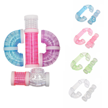 Hot Hamster Accessories Transparent Acrylic Cage Jaula Tunnel Fittings Cheap Small Pet Toys Supplies