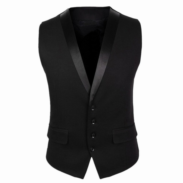 Dress Vests For Men Waistcoat Slim Fit Tuxedo Suit Vest men Homme Casual Formal Business Jacket New Arrival gilet men MJ12