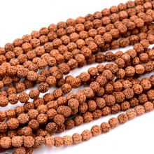 Fashion Women chain jewelry 8mm Tibet Buddhism 108 beads Rudraksha Seeds Prayer Bead Mala Necklace Jewelry Women Gift Party(China)