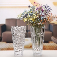 Home Small Vase Modern Simple Glass Flower Vase Thick Transparent Water Cube Vase Flower Ornaments Home Decoration Accessories