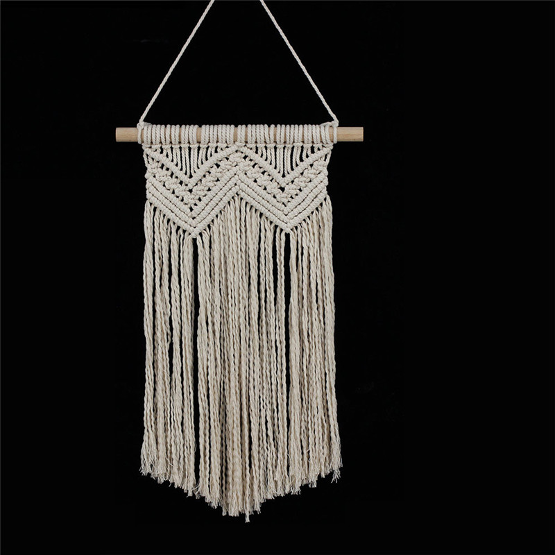 YRHCD Nordic style Beige Weave Bohemia tapestry Hanging for Living Room Decoration Handmade Wall Hanging Curtains for wall decor