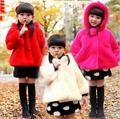 Girls Jacket Kids Jacket Family Fitted Autumn and Winter New Korean Leather Grass Wool Sweater Coat