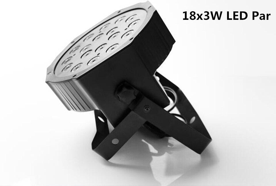 4pcs LED Flat Par 3in1 rgb 18leds 3W 18 LED RGB Color Mixing LED DJ Wash Light Stage Uplighting KTV Disco DJ DMX512