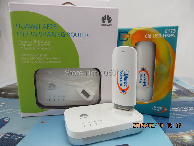 Unlocked Huawei E173 7 2Mbps HSDPA 3G usb modem +Huawei AF23 LTE Sharing  Dock-in 3G Modem from Computer & Office
