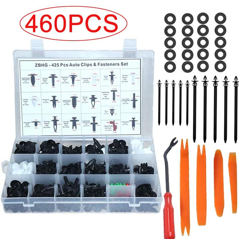 Car Auto Push Pin Rivet Trim Clip Panel Body Interior Assortment Set Top-Spring Universal Push Retainer Set 350pcs